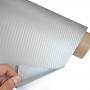 Srebrna 3D karbon folija- srebrna carbon folija - sirina 127cm